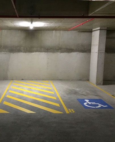Rapid Pressure Cleaning - Line Marking - Disable Car Park